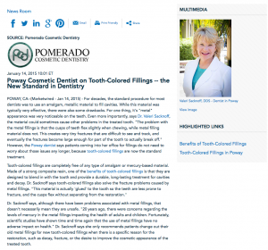 dr. valeri sacknoff,poway dentist,tooth-colored fillings in poway,benefits of tooth-colored fillings