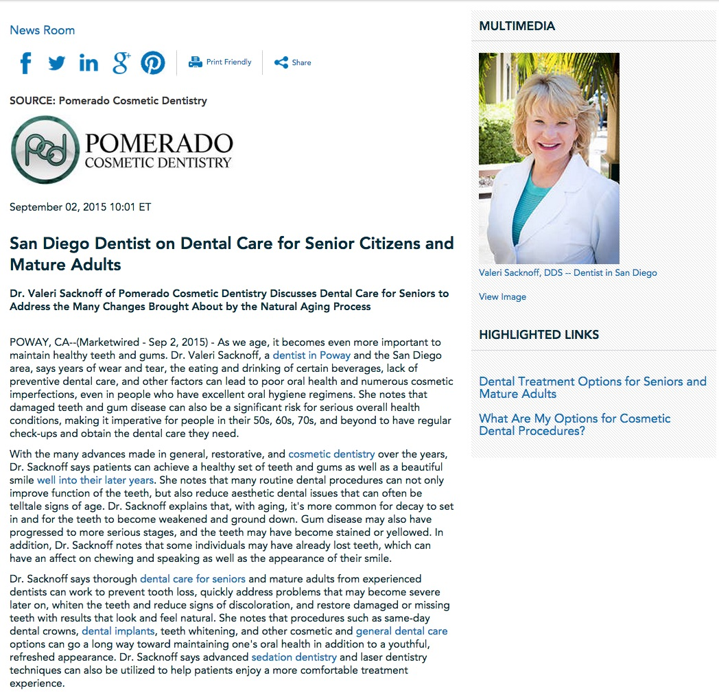 dental,care,treatment,seniors,senior citizens,dentist,san diego,poway,escondido,dr valeri sacknoff